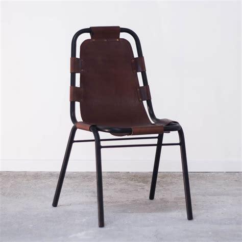 Fauteuil Chaise by Chaise Cuir Vintage Industriel Marron Effet Cuir Vieilli