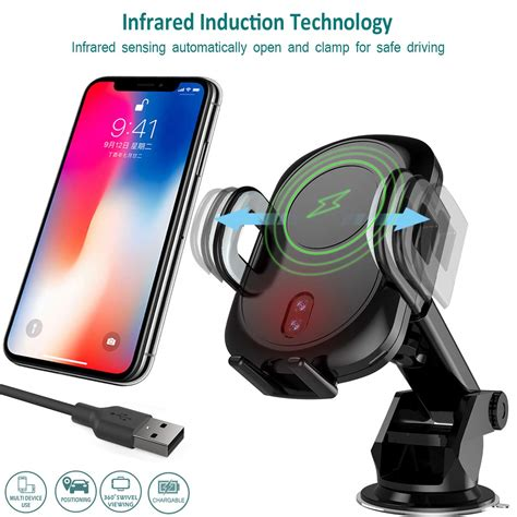 goseth wireless car charger mount automatic infrared