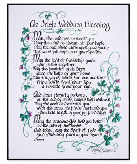 Wedding Blessing In Your Garden by An Wedding Blessing 11x14 In Decorative Wall Plaque