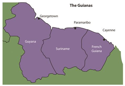 south america map highlands map of guiana highlands in south america