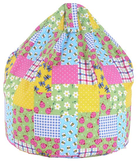 Patchwork Bean Bag - cotton patchwork bean bag