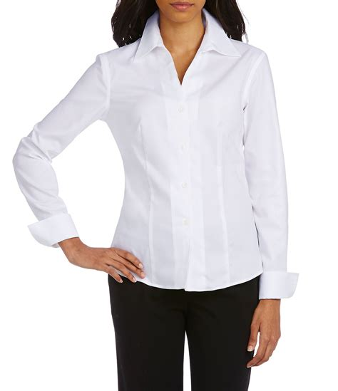 Calvin Klein Blouses At Dillards by Calvin Klein Wrinkle Free Pinpoint Oxford Blouse