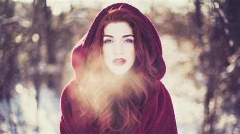 wallpaper girl red winter red girl wallpaper girls wallpaper better
