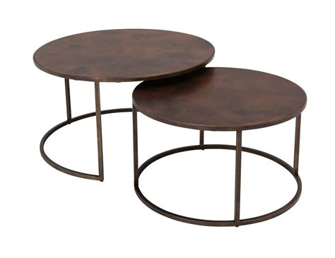 Nesting Coffee Tables Copper Top Nesting Coffee Tables Weir S Furniture