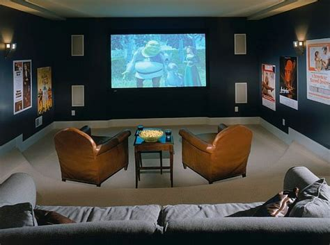 media room cozy media room design decoist
