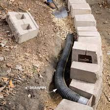 retaining wall drainage landscaping lawn care diy