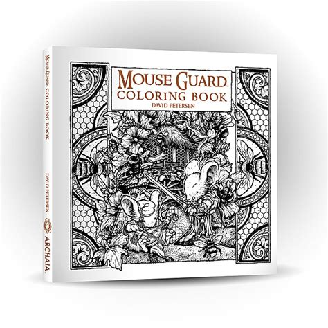 coloring books for adults reddit archaia to release mouse guard coloring book
