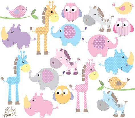 animal baby shower baby animal clipart clip animals baby