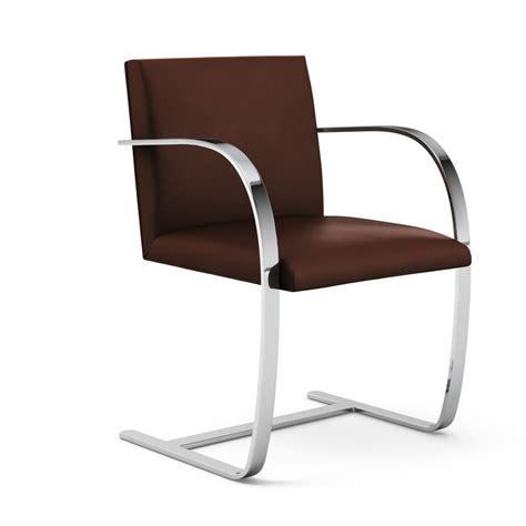 Brno Chair by Knoll Brno Chair Flat Bar Zinc Details
