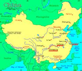 Rivers In China Map by Bike China Adventures Inc Bicycle Tour Descriptions