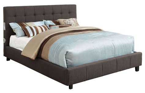 grey king bed dillan gray king fabric platform bed from furniture of america cm7060gy ek bed