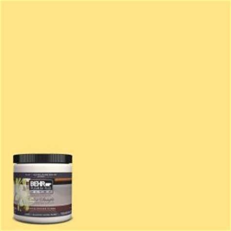 behr premium plus ultra 8 oz 380b 4 daffodil yellow interior exterior paint sle 380b 4u