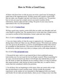 How To Write A Paragraph For An Essay by How To Write A Essay Pdfsr