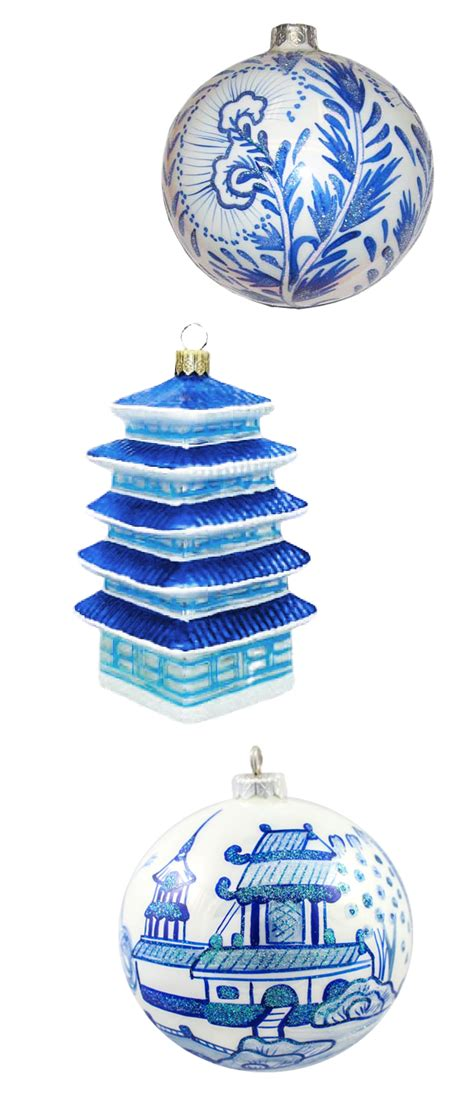 blue and white ornaments the pink pagoda blue and white monday