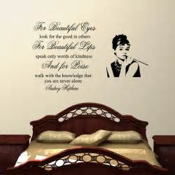 Sticker Quotes For Bedroom Walls For Beauiful Eyes Audrey Hepburn Wall Decal Sticker