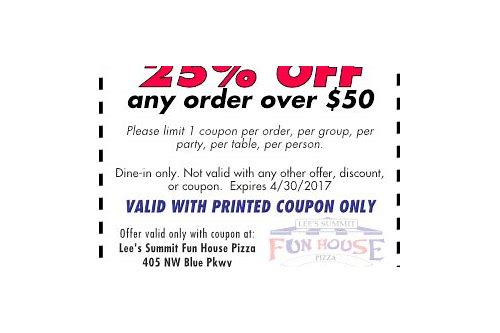 pizza coupons lees summit