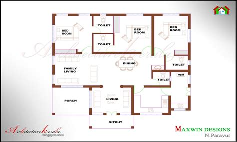 Single Floor House Plans Kerala Style | 4 bedroom ranch house plans 4 bedroom house plans kerala