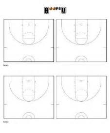 Basketball Half Court Template by Basketball Court Diagrams Printable Basketball Court