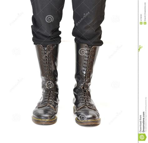 mens knee high lace up boots pair of knee high 20 eyelet black lace up boots stock