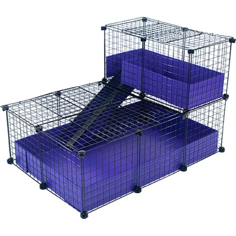 Rabbit Hutch Ramp Small With Narrow Loft Covered Deluxe Covered Cages C