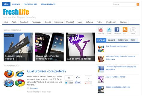 templates para blogger de noticias gratis template para blogger free blogspot templates freshlife