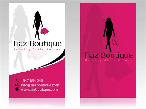 fashion design home business business card design for tiaz boutique by hardcore design