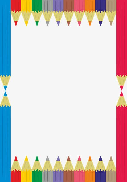 border color html color pencil border color clipart pencils border