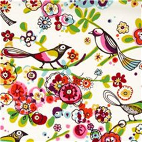 tessuti fiorati white bird paradise fabric larkspur henry usa