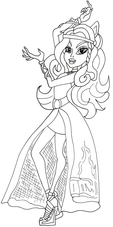 monster high coloring pages 13 wishes gigi free printable monster high coloring pages clawdeen haunt