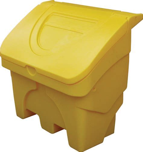 Grit Bin / Storage Box 130 Ltr   Clear Spill