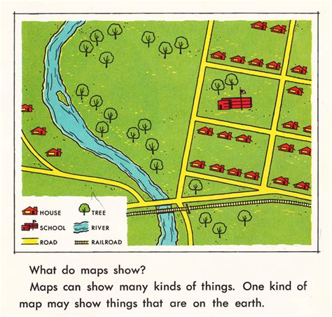 easy maps and directions how we use maps and globes an illustrated guide from 1968