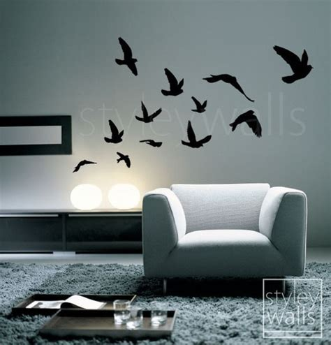 Flying Birds Wall Stickers flying birds wall decal birds wall sticker flying by