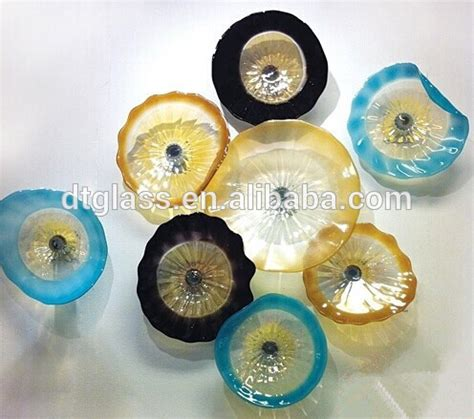 glass plate wall blown glass wall hanging plates glass wall plates