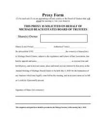 michago beach estates 2010 shareholder meeting proxy form