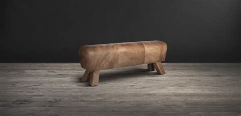 horse bench leather benches gym horse timothy oulton