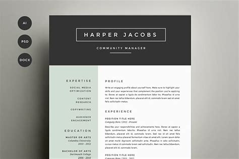 ms word resume template design 15 microsoft word resume templates and cover letters