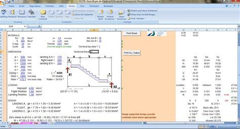 System Engineer Resume Sample by Stair Flight Amp Landing Spreadsheet Civil Engineers Pk