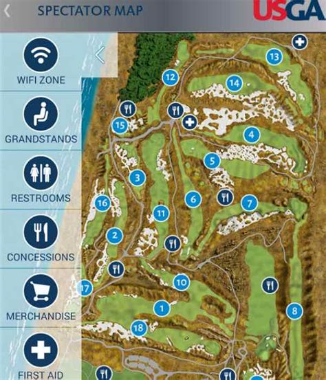 map us open golf us open golf 2015 schedule leaderboard for iphone and