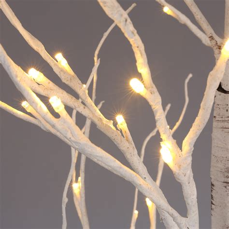 7ft tree with lights 7ft 120 pre lit led birch twig tree light wedding cafe bar