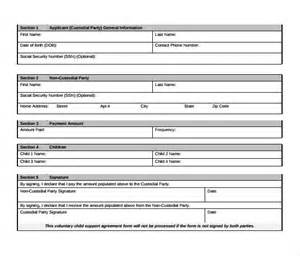support agreement template child support agreement 9 free documents in pdf
