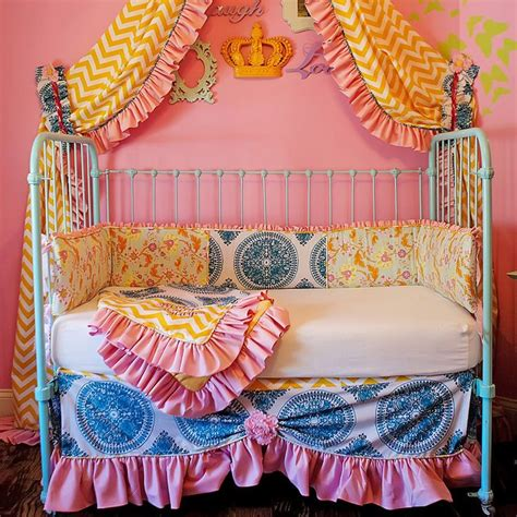 Boho Crib Bedding by Beautiful Boho Crib Bedding The Mix Of Prints Kid