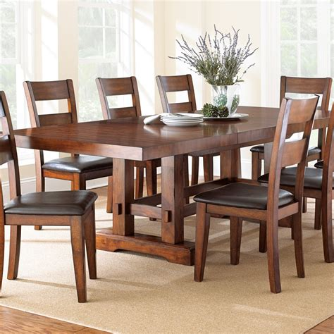 steve silver zappa 7 piece dining room set in medium cherry beyond stores