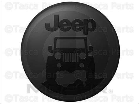 jeep wrangler unlimited spare tire cover new oem mopar jeep molded shell spare tire cover 2007