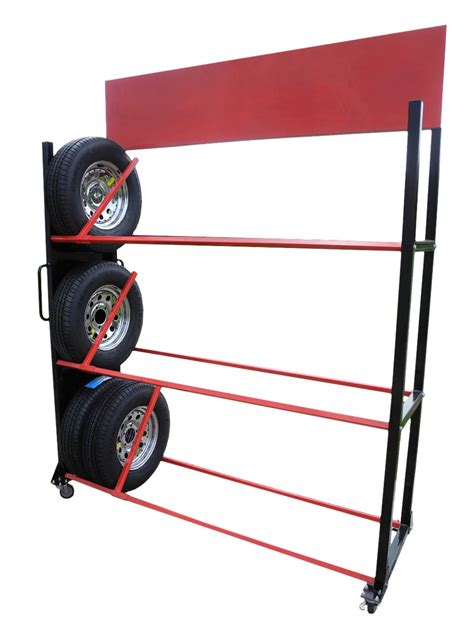 redline rolling tire wheel display rack free shipping