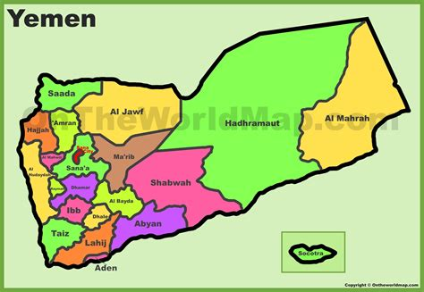 map of yemen administrative divisions map of yemen