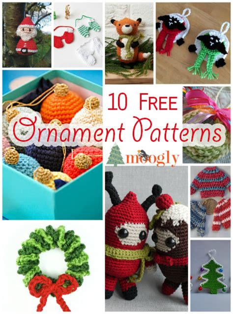 Handmade Ornament Patterns - handmade holidays with 10 more free crochet ornaments