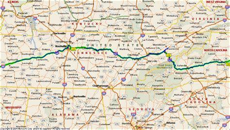 tennessee carolina map jackson tn to conover carolina
