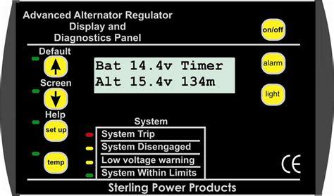 advanced alternator regulator remote for pro reg