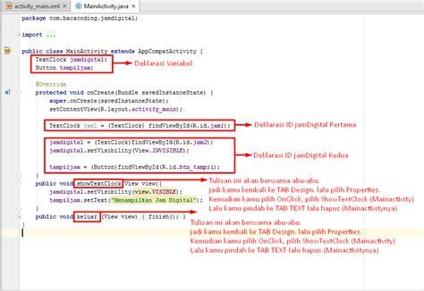 cara membuat jam digital menggunakan javascript cara membuat jam digital keren di android studio baca coding