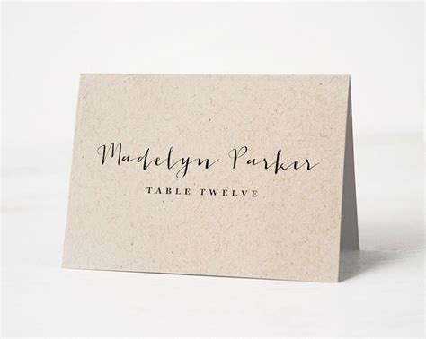 rustic wedding place card template the 25 best place card template ideas on diy